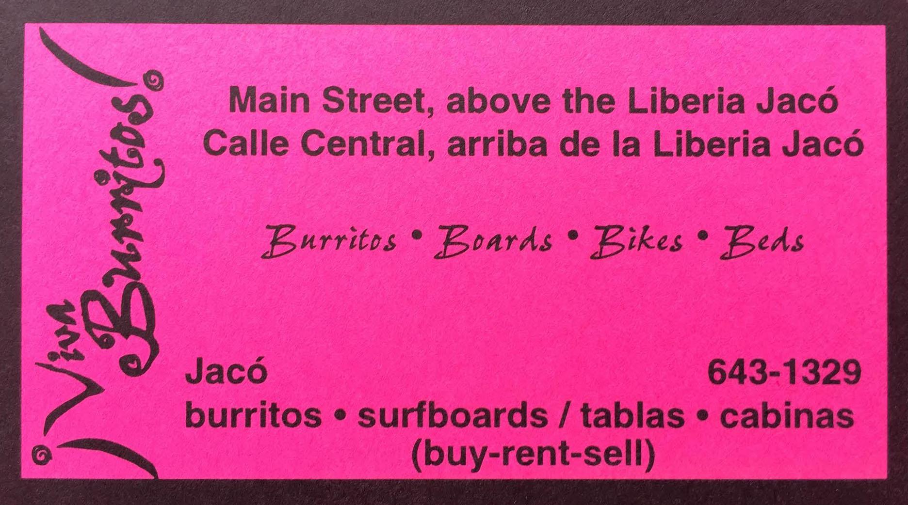 Viva Burritos Business Card